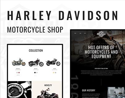 harley davidson - motorcycle shop