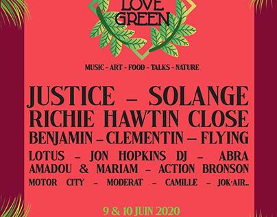 Affiche We Love Green Festival - projet de cours