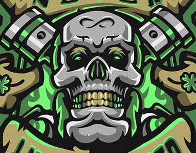 PEIL MERCH | Skull print design