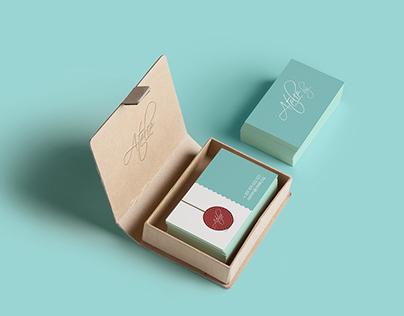 ATELIE BG business card design