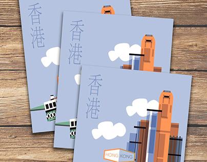 Self-promotional project: Vintage Postcard Design