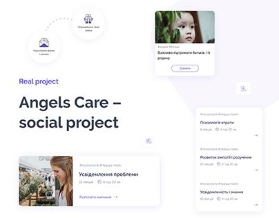 Angels Care social project/Design Process