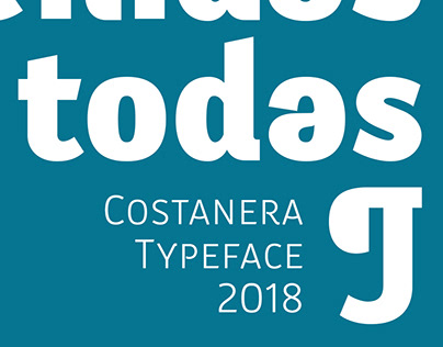Tipografía Costanera en uso