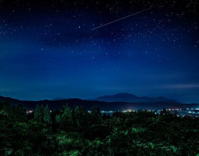 City of starry sky.