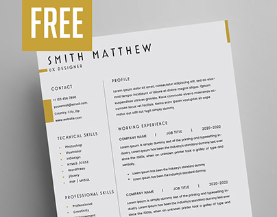 Free Resume Template (2 Pages Resume)
