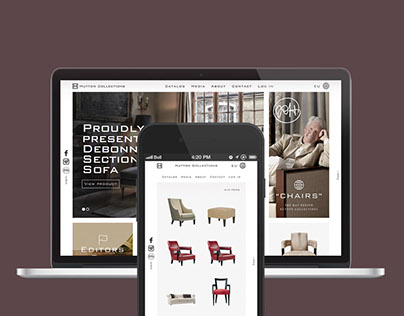 Huttoncollections.com Website design