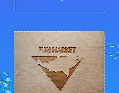 un logo pour un marché aux poisson