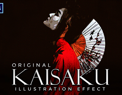 Kaisaku Halftone Illustration Effect