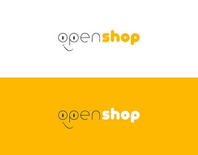 open shop Logo Çalışması