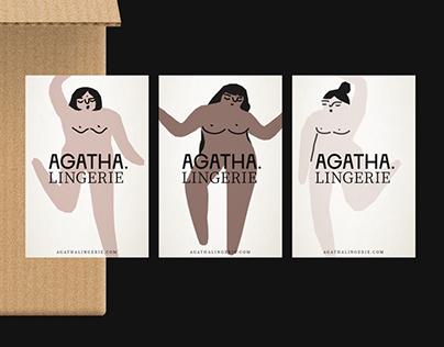 'Agatha' lingerie identity
