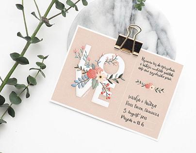 Bohemian Inspired Wedding Invitations