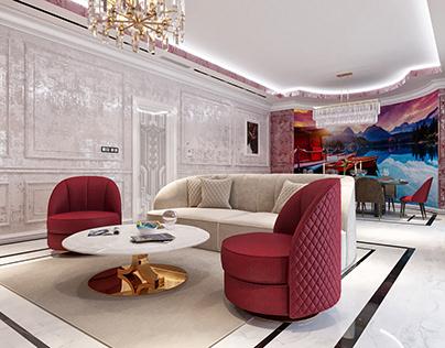 Neoclassic Living Room Design