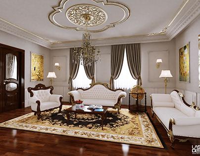 Classical neo baroque home interior