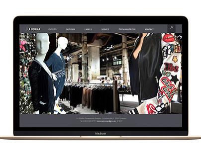 Website LA DONNA Fashion Store