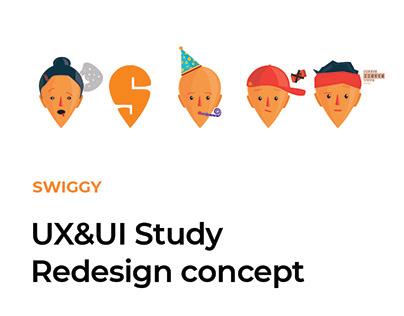Swiggy UI&UX Study/ redesign concept