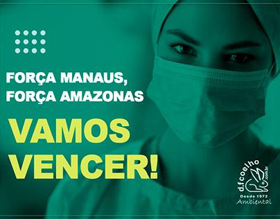 Post: Força Amazonas, Vamos Vencer