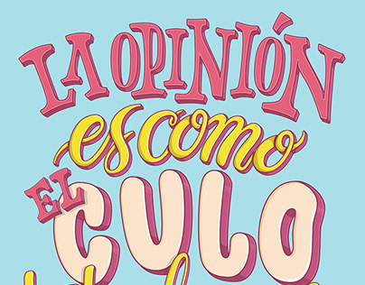 La Opinion Lettering