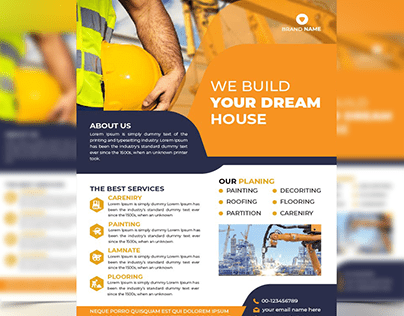 Construction Flyer Design, Business Flyer Design