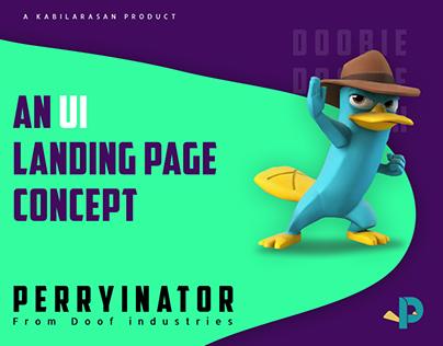 Perryinator | Doof industries Landing page UI concept