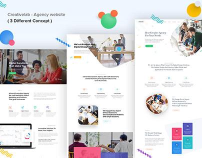 Creativelab - Agency website ( 3 Different Concept )