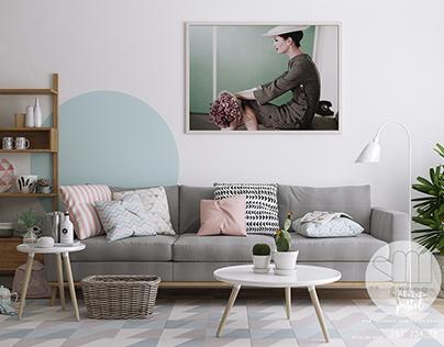 Apartment pastel 60m2 scandinavian