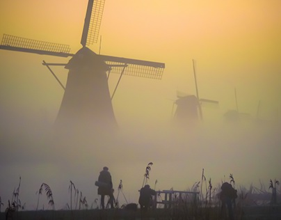 Crack of Dawn at Kinderdijk