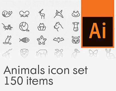 Free Animals icon set, 150 items