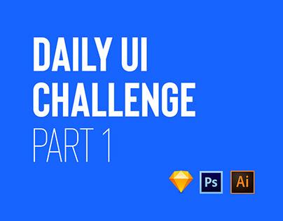 Daily UI Challenge Part I