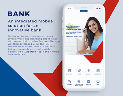 Integrated mobile solution for an innovative Bank