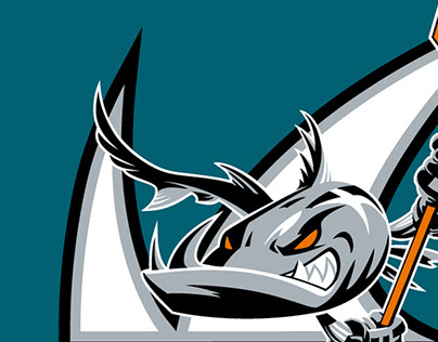San Jose Barracuda (AHL Hockey Team Branding)