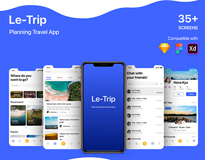LeTrip Planning Travel UI KIT