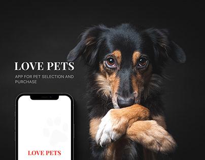 Love Pets - iOS mobile app