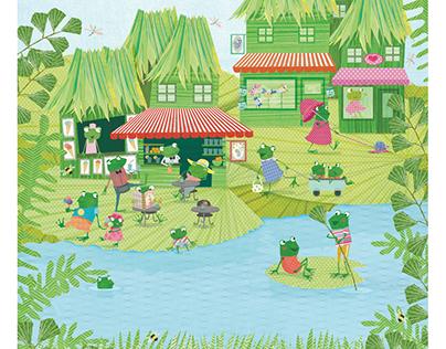 Froggy Town. Latest issue of Ladybug magazine