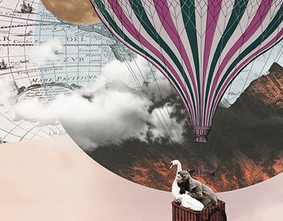 Pink Flight | Digital Collage