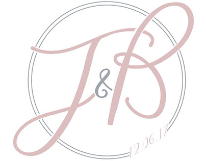 logo design for a couple's wedding