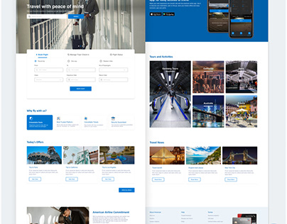 American Airlines landing page Redesign