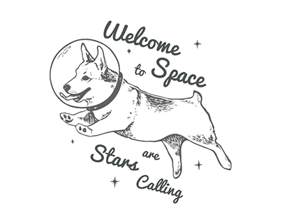Space Dog — T-short Print