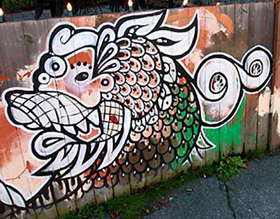 Double Dragon Mural