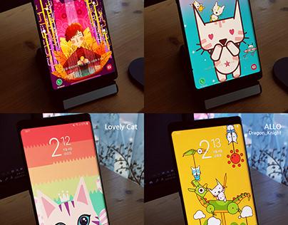 Galaxy Themes - Animation Lock Screen