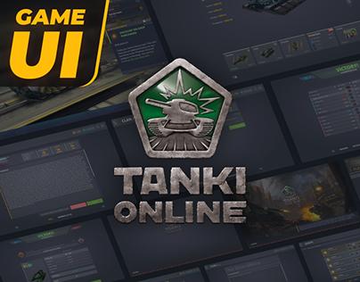 Tanki Online Desktop & Mobile UX/UI ReDesign