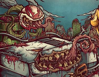 Heptaedium album cover project