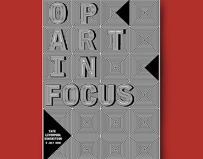 Op Art in Focus Poster Design