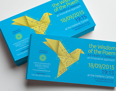 Promotion for a poetry event