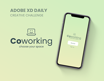 Coworking : Adobe XD Daily Creative Challenge