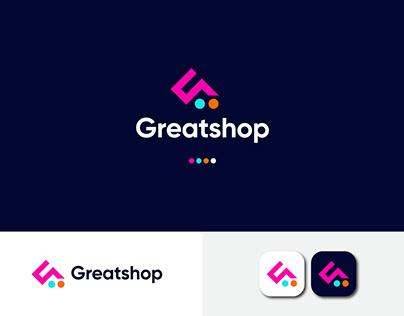 Ecommerce modern logo - Online Shopping - G Shop Logo