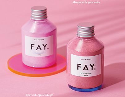 FAYFAY logo & package
