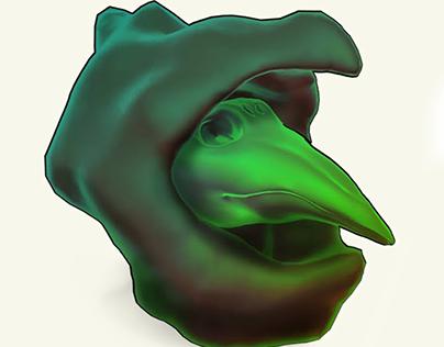 Plague Knight 3D Mask & Hood
