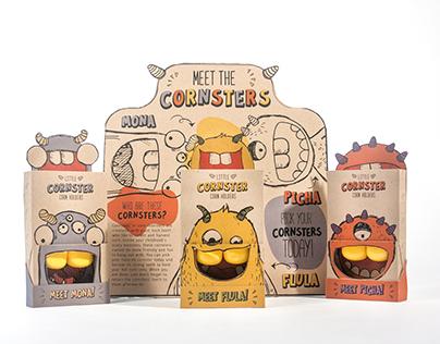 Packaging Design LITTLE CORNSTER CORN HOLDERS
