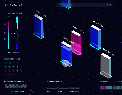 Data servers UI animation