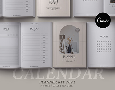 Canva Planner & 2021 Calendar kit Vol2